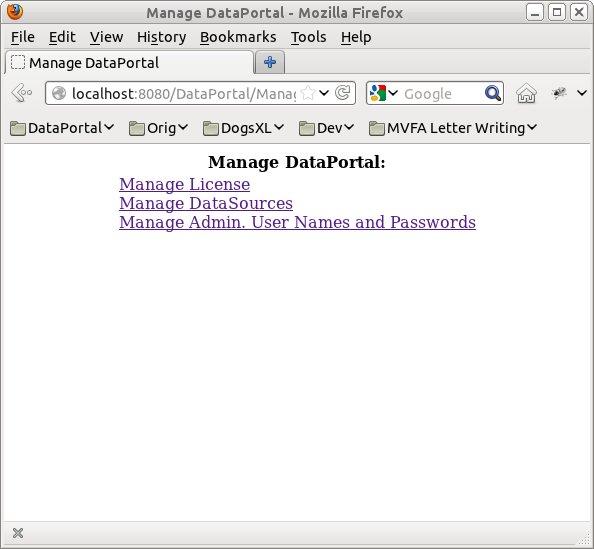 DataPortal Server Manager